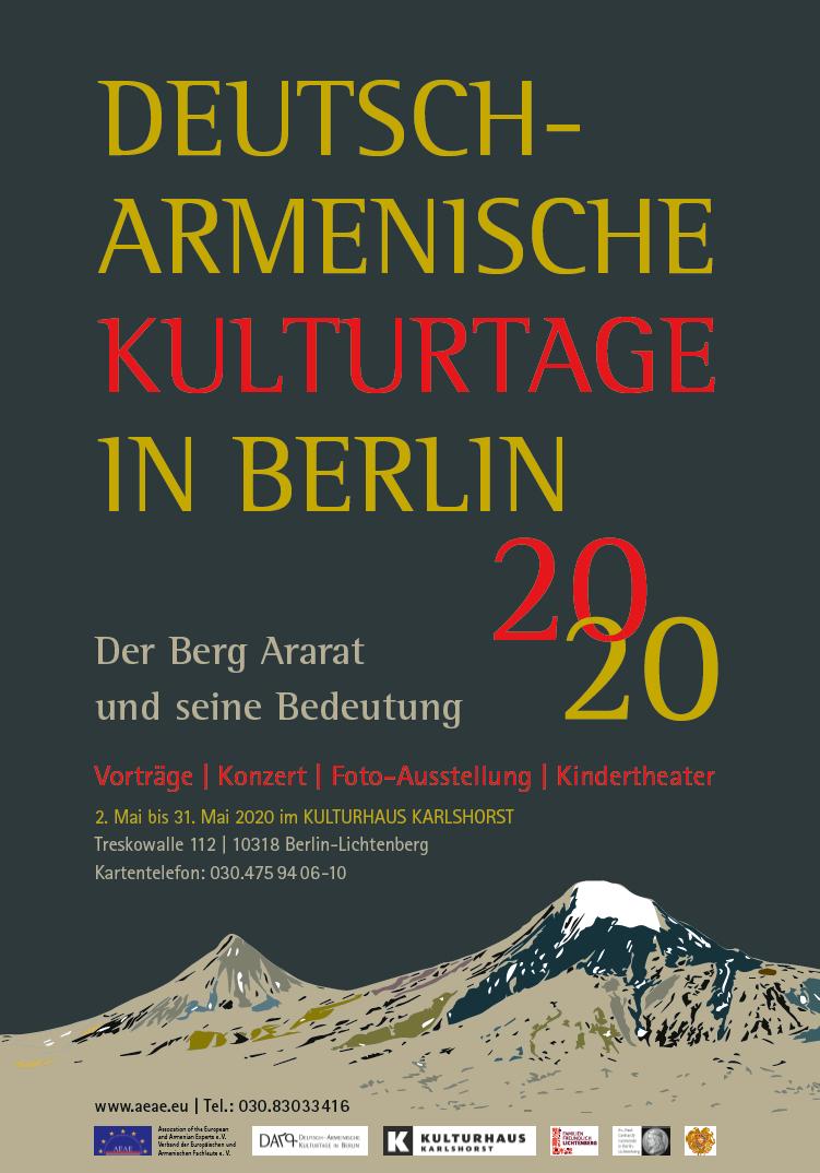 VERSCHIEBUNG ALLER VERANSTALTUNGEN DER DEUTSCH-ARMENISCHEN KULTURTAGE 2020 IN BERLIN